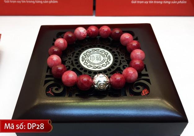 Vòng Tay Phong Thủy đá đỏ Malaysia Mix Charm Bạc Kim Tiền cho người mệnh Thổ và Hỏa – DP28
