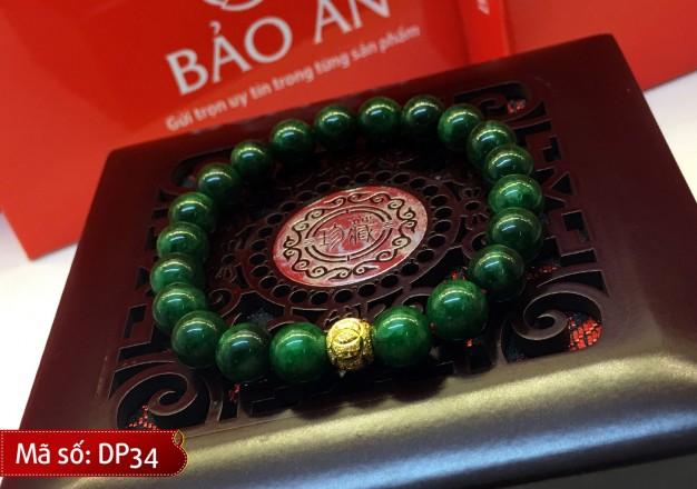 Vòng Tay Phong Thủy Ngọc xanh lục Malaysia Mix Charm Hợp cho người mệnh Mộc và Hỏa – DP34